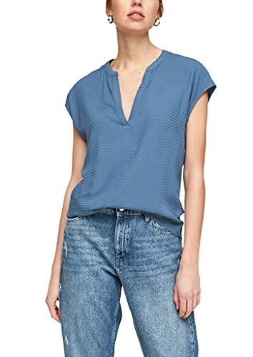 s.Oliver Damen Jerseyshirt mit Blusenfront faded blue 38