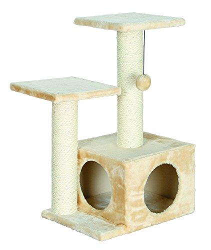 Trixie - Albero a Forma di Gatto Valencia, 71 cm, Colore: Beige