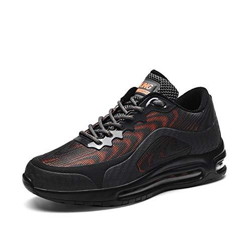 JINSUOZY DXXLD - Zapatos deportivos para hombre, talla grande, cojín de aire, absorción de impactos, 3D, tridimensional, de poliuretano, 39 a 46 (color: naranja, tamaño: 45)