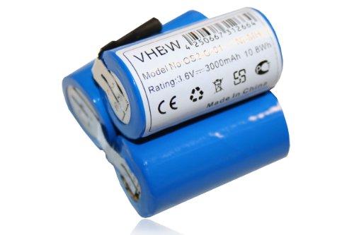 vhbw Akku kompatibel mit AEG Liliput Classic 1, AG1411, AG1412, AG1413 Handstaubsauger Akkusauger - Ersetzt 520103 - (3000mAh, 3.6V, NiMH) - Ersatzakku