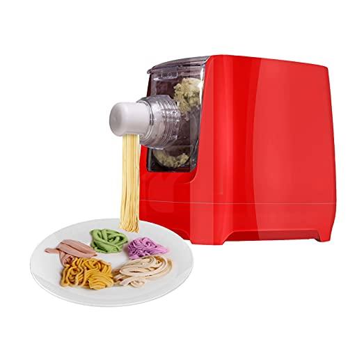 Arcwares Pasta Maker Machine, Automatic Noodle Make, Home Pasta Maker for Spaghetti, Fettuccine, Macaroni, 12 Pasta Shaping Discs(Red)