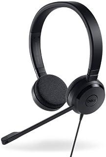 戴尔 UC150 双声道头戴式耳机 - 黑色?#21453;?#32819;机(PC/游戏、双声?#39304;?#30334;叶窗、黑线、在线、控制)