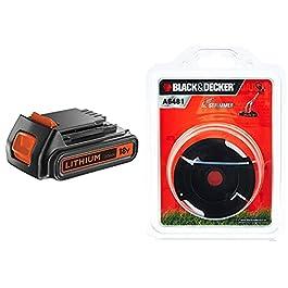 BLACK+DECKER Batterie Lithium 18V 2 Ah, Compatible avec Tous Les Outils 18V, sans Effet Mémoire & Bobine de Rechange…