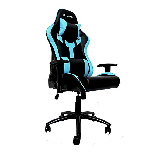CELLBELL® GC03 Transformer Series Gaming/Racing Style Ergonomic High Back Chair with Removable Neck Rest and Adjustable Back Cushion[Blue-Black]