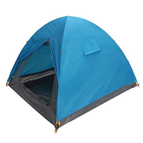 Manyao Tienda de campaña al Aire Libre Camping Recorrido de la Playa 3 Personas de Doble Capa a Prueba de Viento Prueba de Lluvia, 2 Colores (Color : Green)