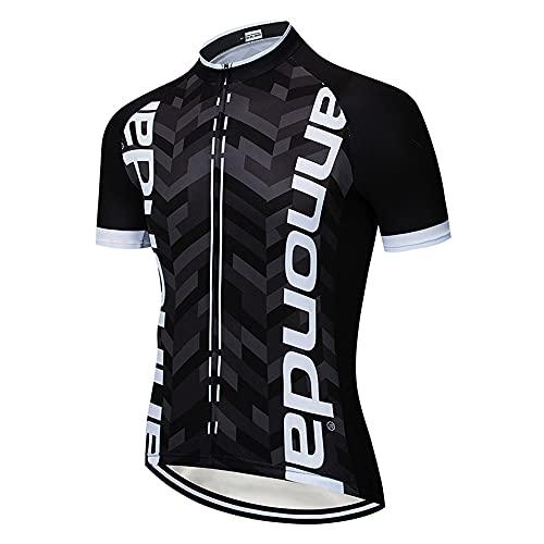Magliette Ciclismo Uomo Abbigliamento da Ciclismo Estivo Maglia Corte Bicicletta Traspirante per MTB Bici da Corsa