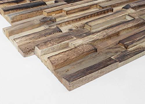 10x Wandverkleidung Holz Wandgestaltung in braun - 6