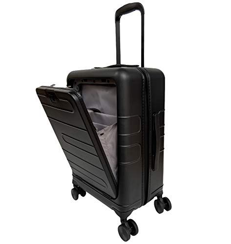 人気のスーツケース 機内持込 フロントオープン フロントポケット付き 人気 ビジネス 出張 キャリーケース pc素材超軽量 超静音 前開き設計小型ss【安心一年】