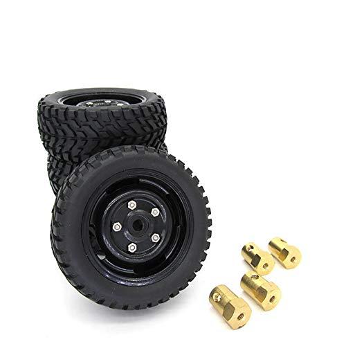 Sankuai 4 stücke Upgrade Modell Auto Reifen Räder Hub Felgen Teile für MN D90 91 99s RC RAWLER Autozubehör (Größe : A)
