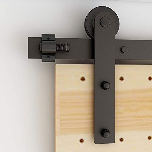 200CM/6.6FT Herraje para Puerta Corredera Kit de Accesorios para Puertas Correderas Conjunto de Piezas de Metal Carril para Puerta Deslizante