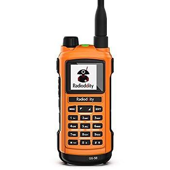 Radioddity GS-5B Bluetooth Programming Handheld Ham Radio Dual Band Long Range Two Way Radio with Dual PTT USB Rechargeable S-Meter Programming Cable Rainproof