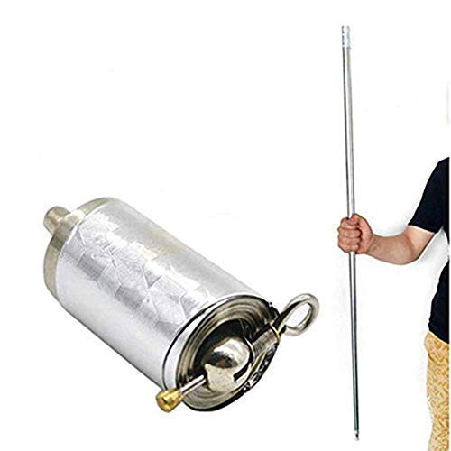 ZWIFEJIANQ Magic Pocket Staff Portable Martial Arts Metal Staff 110CM 150CM (Silver, 150cm)