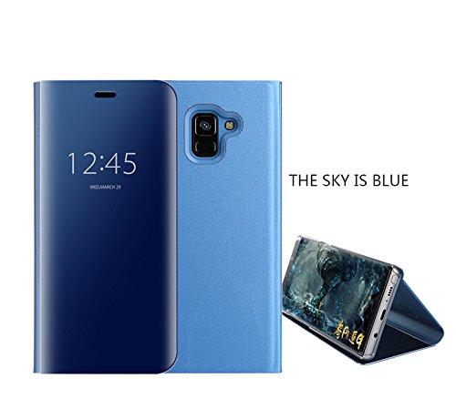 COVO® Funda para Samsung Galaxy A6 2018 Espejo Flip Case Espejo Reflexión Brillante Ultra Fino Duro Anti-Scratch de Carcasa para Samsung Galaxy A6 2018(Azul): Amazon.es: Electrónica