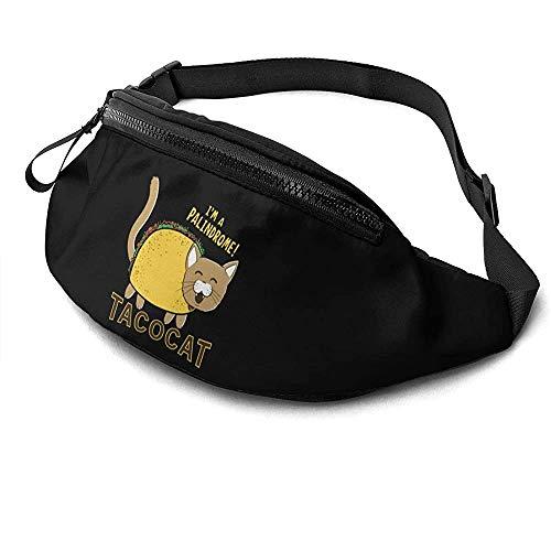 NA Taco Cat Runner's Fanny Bag Waist Pack Sangles Réglables Poche avec Prise Casque pour Unisexe