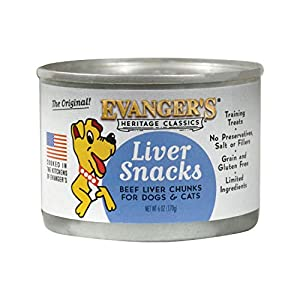 Evanger's Heritage Classic Liver Snacks for Dogs – 12, 6 oz Cans