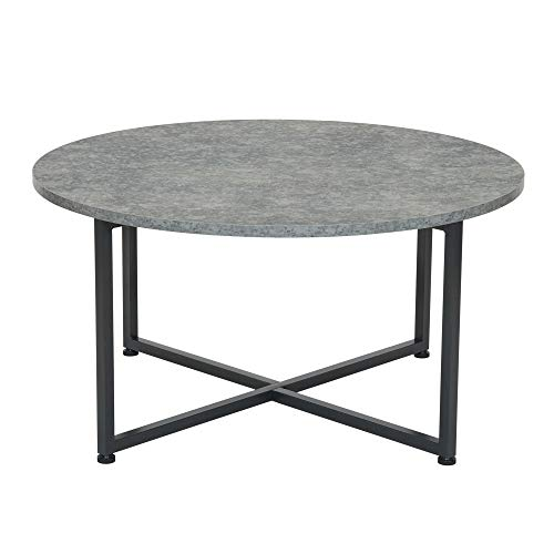 Household Essentials Contemporary Round Coffee Table