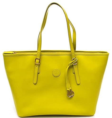 Timberland - Bolso para mujer, diseño de ruga horizontal Yellowfluo Talla única