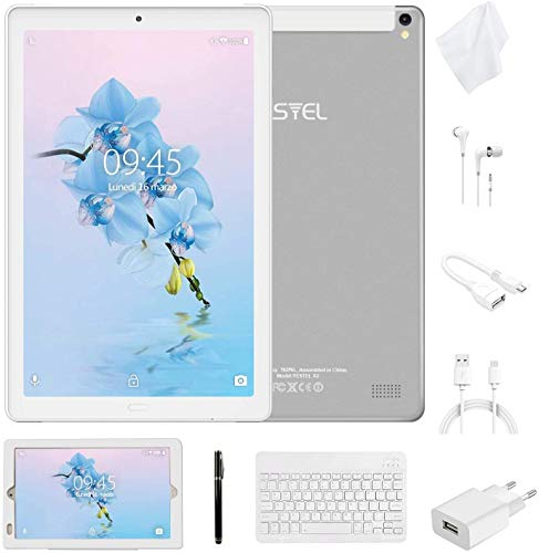 tastiera per tablet 7 pollici Tablet 10 Pollici con Wifi Offerte Tablet PC 4G LTE Dual SIM /WiFi tablet Android 8.0 con 3GB di RAM e 32GB ROM Batteria 8000mAh-(Sblocco Facciale