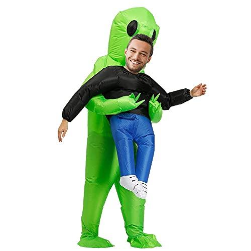 Fuya Alien Kostüm Herren, Aufblasbares Kostüm für Erwachsene, Super Lustig, Geeignet für Partys, Shows