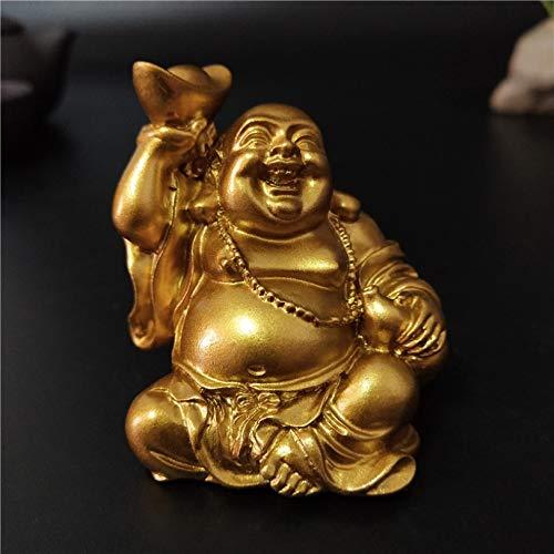 Laughing Buddha Statue Feng Shui Wealth Buddha Sculpture Figurines for Home Garden Decoration Gold Maitreya Statues