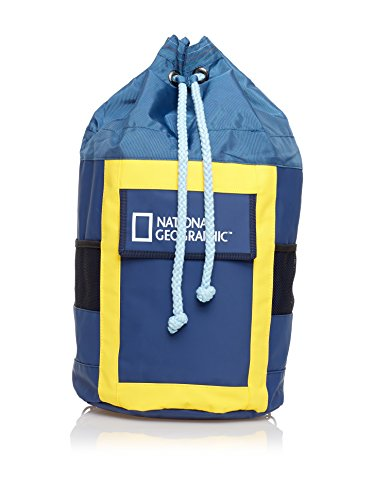 National Geographic - Sacca Con Logo Sailor Blu E Giallo 30X61X30 Cm