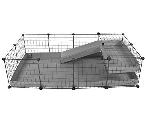 Kavee Jaula CyC Jaula C&C para Conejillo de Indias Jaula para erizos Jaula de Conejos Caja de Tortugas 4x2 Loft