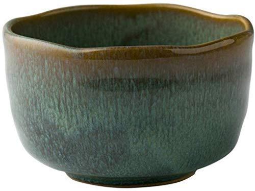 GUOCAO Cuenco de cerámica de postre de cerámica con diseño de cultura folclórica de 12,7 cm, cuenco de cultura popular para cocinar y comer en casa