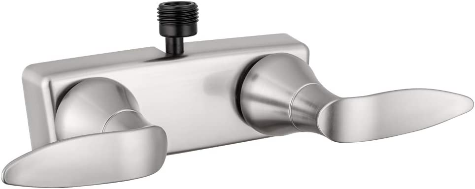 Dura Faucet DF-SA100LH-SN RV Shower Faucet Valve Diverter with Winged Levers (Satin Nickel)