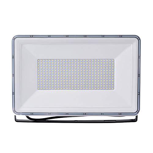 Viugreum Faretto LED da Esterno 300W, IP67 Resistente all'acqua Proiettori per Esterni, Luce Di Sicurezza 30000LM, 6000K Bianco Freddo, Consumo Basso Super Luminoso per Giardino, Magazzino [A +++]