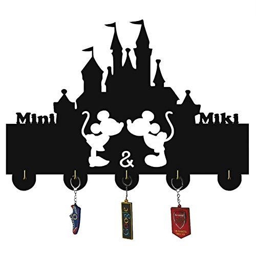AUUNY Animación de Dibujos Animados de Disney Percha de Madera único Regalo Ropa Sombrero Clave Gancho/de la Capa de Rack/Gancho de la Pared la decoración del hogar Pegatinas de Pared Cocina B