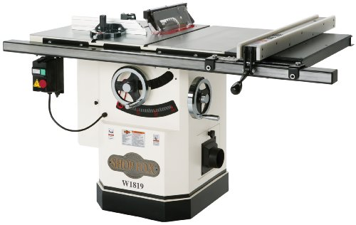 Shop Fox W1819 3 HP 10-Inch Table Saw with Riving...