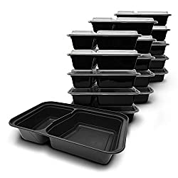Fitpacker DUO USA Quality Meal Prep Containers 2 Compartment Bento Lunch Boxes with Lids