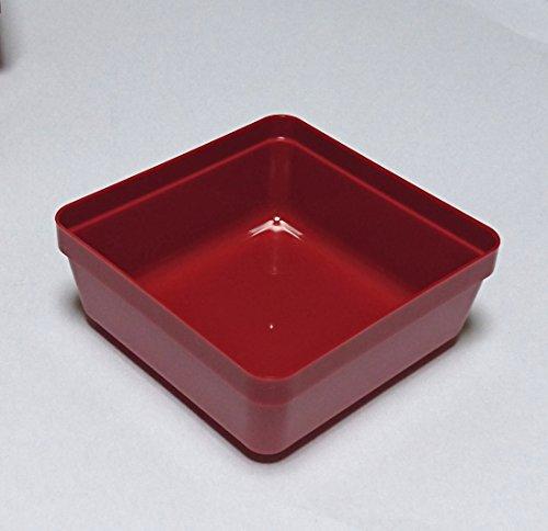 若泉漆器 重箱用仕切 6.5寸重用中子4個用(中)ブロック仕切 朱4個 H-151-42 -
