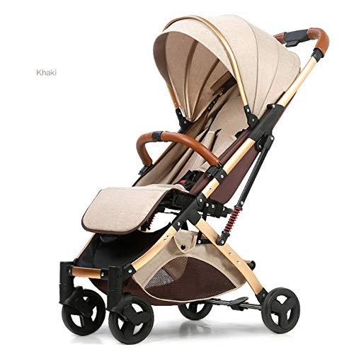 GSERA 5.8Kg Light Baby Stroller Portable Umbrella Baby Carriage Sit And Lie Down Pram Luruxy Newborn Travel Car