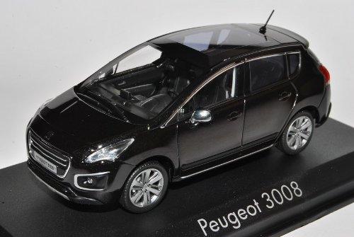 Norev Peugeot 3008 Schwarz Ab 2009 1/43 Modell Auto mit individiuellem Wunschkennzeichen