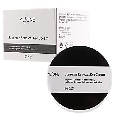 Eye Cream Yesone Supreme Renewal Natural Eye Cream for Lines Wrinkles and Dark Circles Anti Aging Under Eye Treatment Bags Under Eyes Puffy Eyes Reducer for All Skin Type