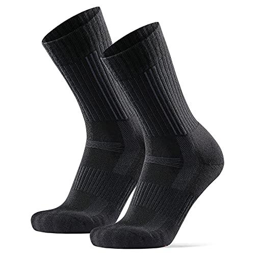 DANISH ENDURANCE Calcetines Premium de Senderismo 2 pares (Negro, EU 43-47)