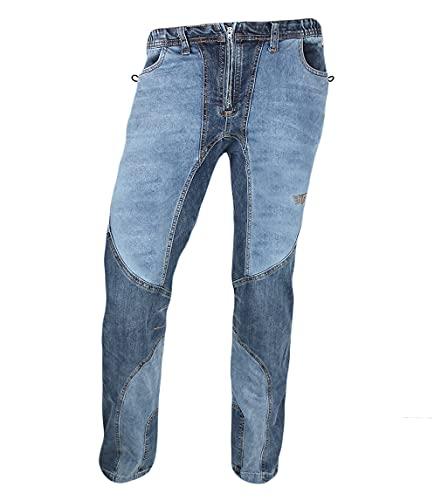 Jeanstrack Garbi Jeans Pantalón de Escalada-Trekking, Hombre, M