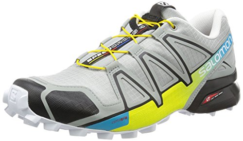 SALOMON Speedcross 4 Shoe - Men's Light Onix/Black/Corona Yellow 7