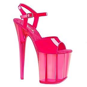 Pleaser Women's Flamingo-809UVT Ankle-Strap Sandal