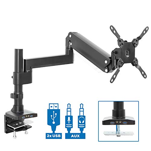 Mount-It! Premium Single Monitor Arm Desk Mount | Gas Spring Arm Fits...
