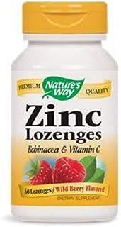 海外直送品Nature's Way Zinc, 60 LOZENGES WITH ECHINACEA & VITAMIN C (Pack of 2)