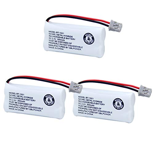 BT-1021 Rechargeable Battery Replacement Compatible with Uniden BT1021 BBTG0798001 BT-1008 BT-1016 Cordless Handset Phone(Pack of 3)