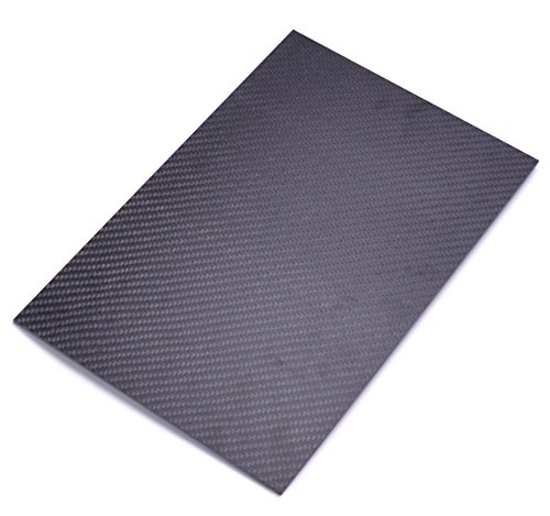 Readytosky 3K Carbon Fiber Board 200mm X 300mm X 2mm Thickness Pure Carbon Fiber Plate Sheet for DIY Drone Frame Etc.