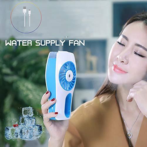 USB Fan Persoonlijke handheld test lawaaivrije spray ventilator, bevochtiging en opladen multifunctionele draagbare, 3-speed verstelbaar, geschikt voor desktop reizen camping aanvulling