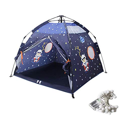 GJQDDP Tent for Kids, Foldable Children Play Tent Astronaut Star Theme Kids Playhouse,Space Ship,Starry Sky,Rocket Play House,Toddler Tent Indoor and Outdoor