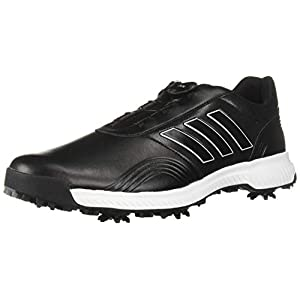 adidas Men's CP Traxion BOA Golf Shoe, core Black/FTWR White/Silver Metallic, 10 M US
