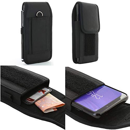 Handy Gürteltasche für Xgody P20 Smartphone 5,0-6,4 Zoll Schutzhülle Etui Mit Kartenfach und doppelter Gürtelschlaufe