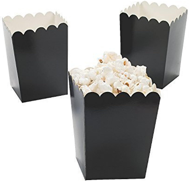 Mini Popcorn Boxes - Black (2-Pack of 24)