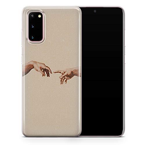 Carcasa de gel para Samsung S7 Edge, diseño de manos Michelangelo